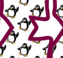 Gamma Sigma Sigma-Penguin Letters Sticker