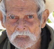 Old man - people of the tropics - Señor viejo - gente de zona tropical by Bernhard Matejka