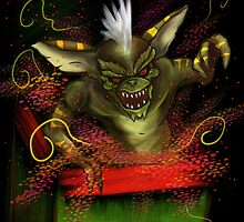 Gremlin xmas card by Traumatron