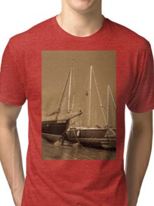 Sail boats in harbour Tri-blend T-Shirt