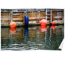 bright buoys  Poster