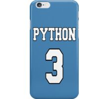 Python 3 - White on Blue Design for Python Programmers iPhone Case/Skin