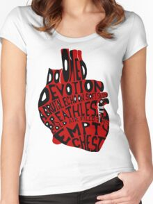 empty chest : anatomical heart (large red) Women's Fitted Scoop T-Shirt