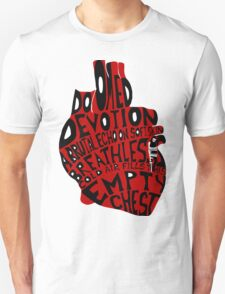 empty chest : anatomical heart (large red) Unisex T-Shirt