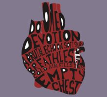 empty chest : anatomical heart (small red) Kids Clothes