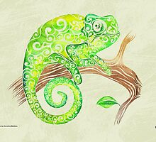 Swirly Chameleon by CarolinaMatthes
