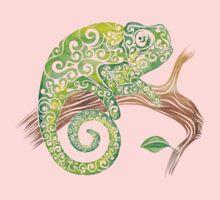 Swirly Chameleon Baby Tee