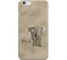 Swirly Elephant Family iPhone Case/Skin