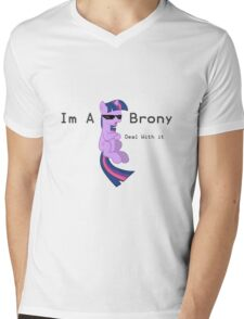 I'm a Brony Deal with it. (Twilight Sparkle) - My little Pony Friendship is Magic Mens V-Neck T-Shirt