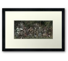 Cat Musician's Party Framed Print