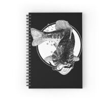 Largemouth Bass with Worm Spiral Notebook