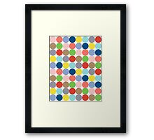 colorful circles of color in pastel Framed Print