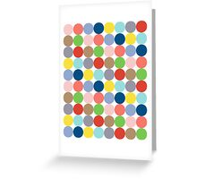 colorful circles of color in pastel Greeting Card