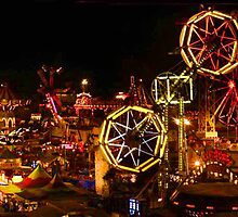 Night Time At The Iowa State Fair by Linda Miller Gesualdo