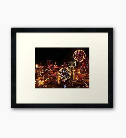 Night Time At The Iowa State Fair Framed Print