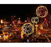 Night Time At The Iowa State Fair Photographic Print