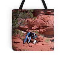 Tired in the hills Tote Bag