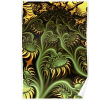 Sunflowers in UltraFractal Poster