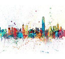 Hong Kong Skyline Photographic Print