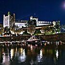 Evening at Lake Garda Italy by imagic