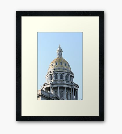 State Of Colorado Dome Framed Print
