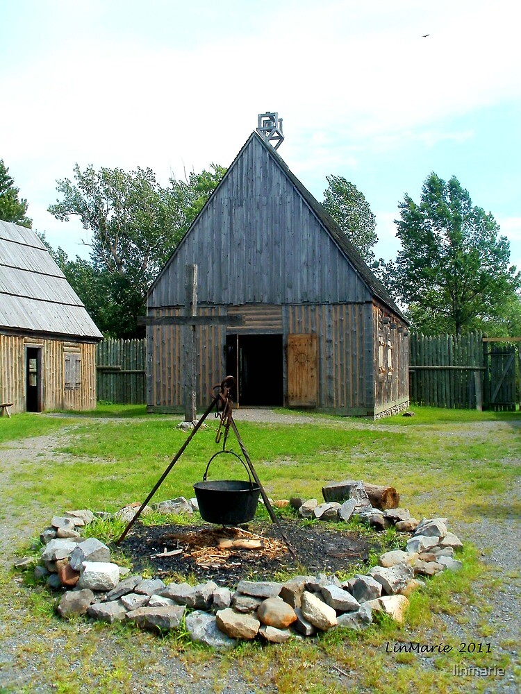 The Chapel at Ste. Marie Among the Iroquois by linmarie