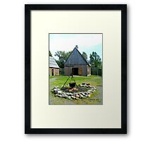 The Chapel at Ste. Marie Among the Iroquois Framed Print