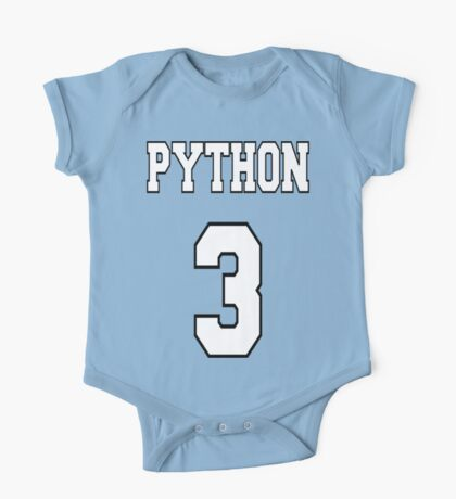 Python 3 - White on Blue Design for Python Programmers One Piece - Short Sleeve