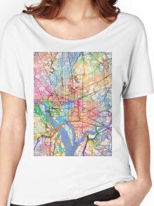 Washington DC Street Map Women's Relaxed Fit T-Shirt
