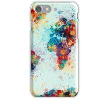 World Map Paint Splashes iPhone Case/Skin