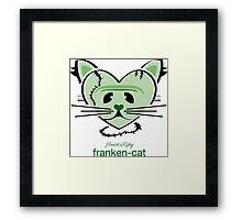 HeartKitty Franken-Cat Framed Print