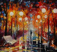 MISTY REFLECTIONS - original oil painting on canvas by Leonid Afremov by Leonid  Afremov
