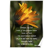 Hartlam, my lief... Poster