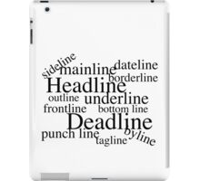 Journalistic Lines iPad Case/Skin