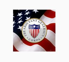 Adjutant General's Corps - AG Corps Branch Insignia over U. S. Flag Unisex T-Shirt
