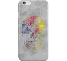 Swirly Skull (Color) iPhone Case/Skin