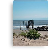 Pier From the Dune Canvas Print