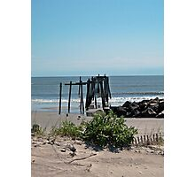 Pier From the Dune Photographic Print