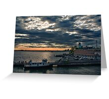 Cloudy Spring Dusk Greeting Card
