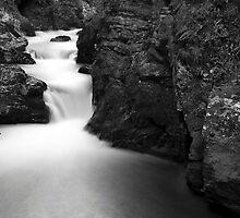The Soteska Vintgar gorge in Black and White by Ian Middleton