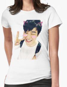 BTS Jimin Kawaii Selca Sticker Womens Fitted T-Shirt