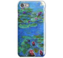 Claude Monet - Red Water-Lilies iPhone Case/Skin