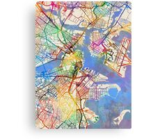 Boston Massachusetts Street Map Canvas Print