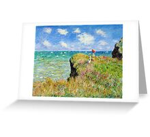 Claude Monet - Walk on the Cliff at Pourville Greeting Card