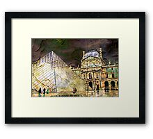 Parisian Mosaic - Piece 23 - On the Edge Between Modern and Ancient Framed Print