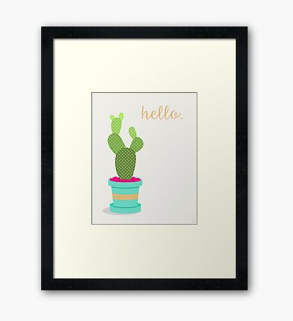 Friendly Cactus Framed Print
