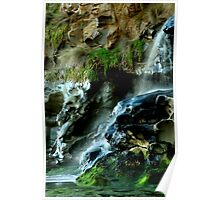 beach falls. bunurong coastal park Poster