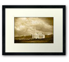 Sepia Big Sky Oquirrh Mountain Temple 20x30 Framed Print