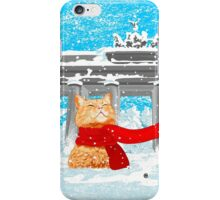 Christmas Cat (Tabby) iPhone Case/Skin