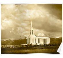 Big Sky Sepia Oquirrh Mountain 20x24 Poster
